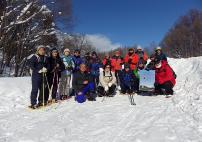 ジエットコースター雪道フットパス参加者